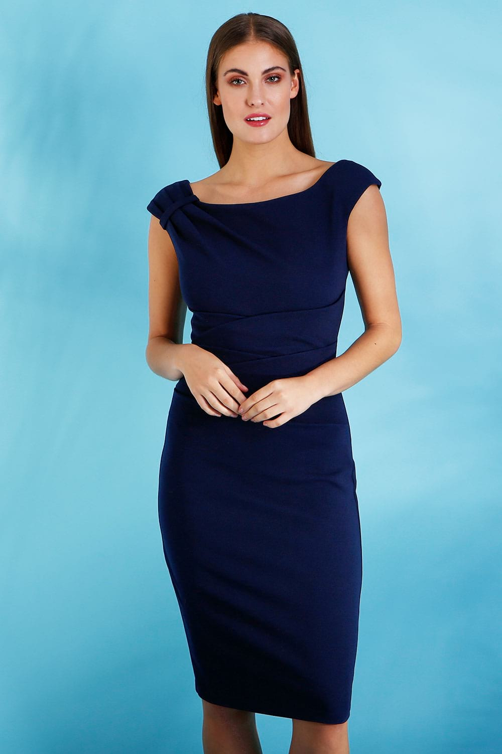 Hybrid Fashion 1287 Kelsey Navy Pencil Dress