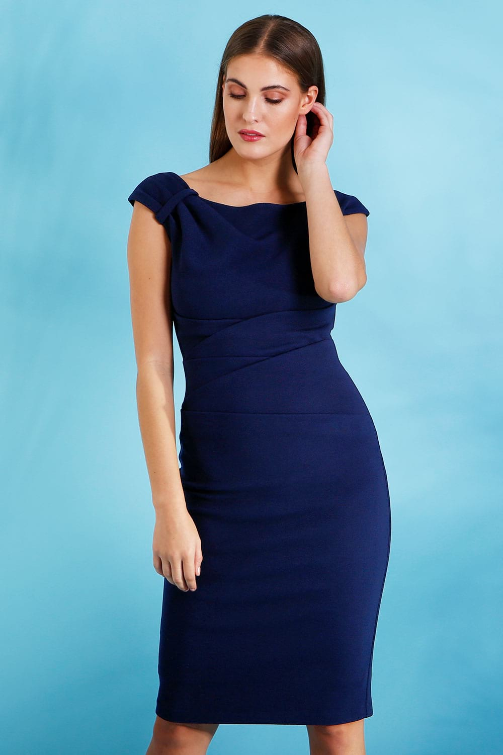 a4b6b0f2078 Hybrid Kelsey Off Shoulder Pencil Dress - Hybrid Fashion