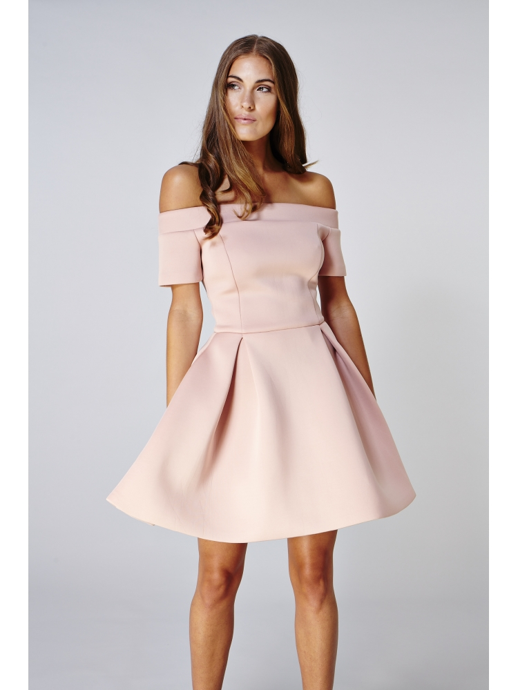 Hybrid Fashion 1025 Olivia Skater Off Shoulder Dress