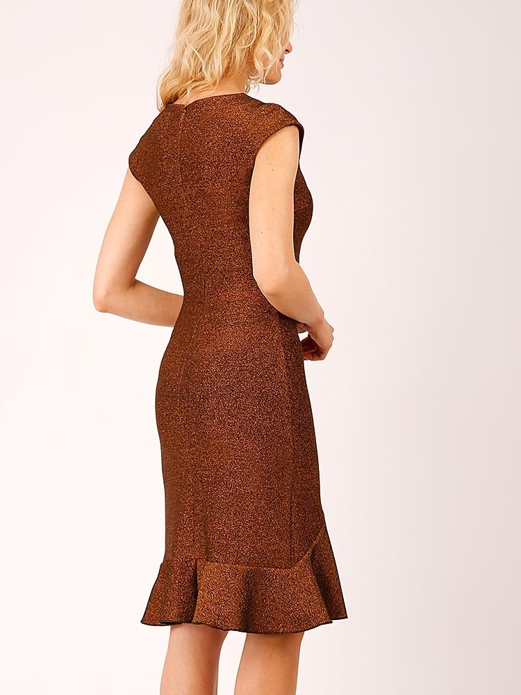 Hybrid 1299 Pandora Bronze Glitter Pephem Dress