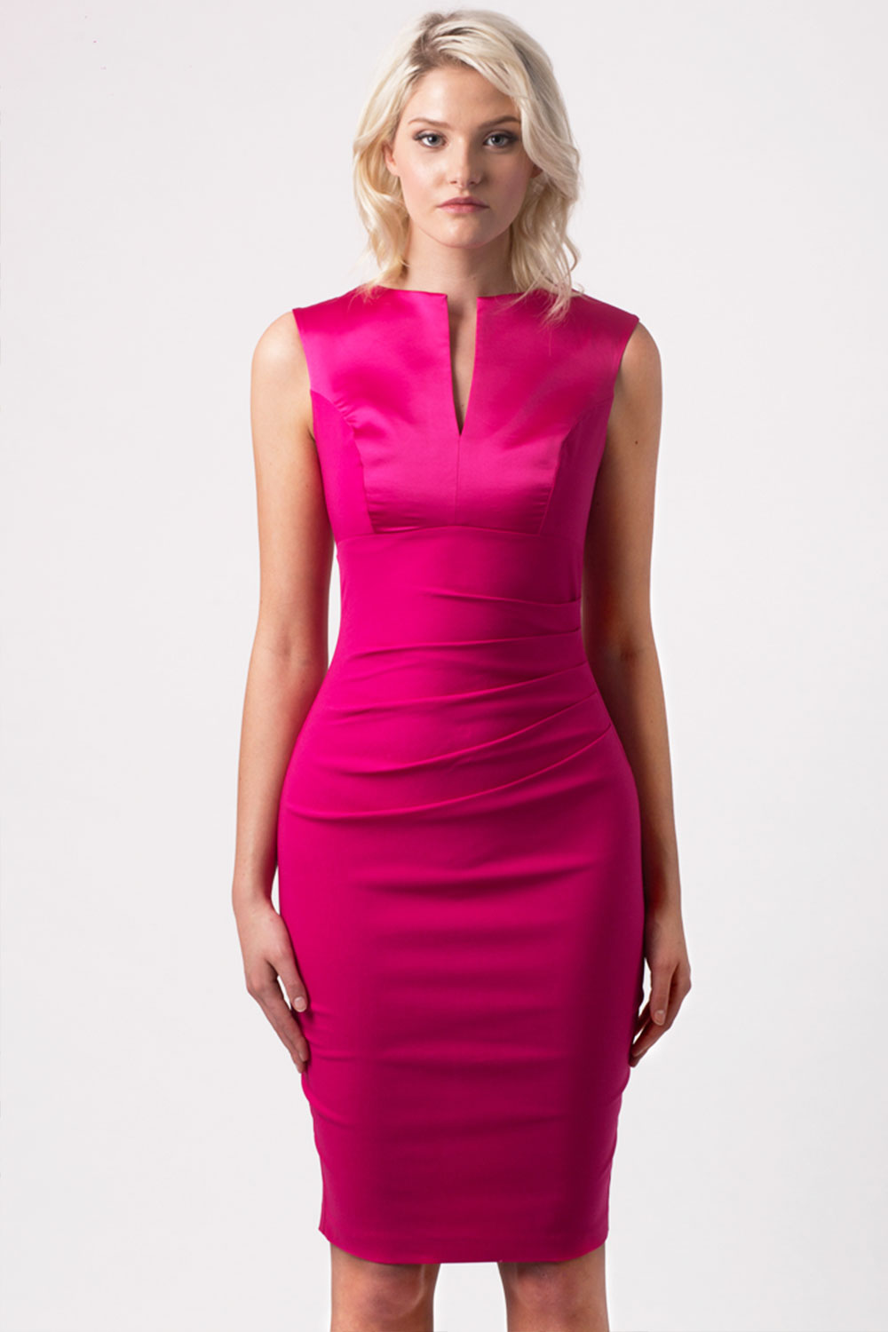 Hybrid Fashion 1040 Covina Pink Bodycon Dress