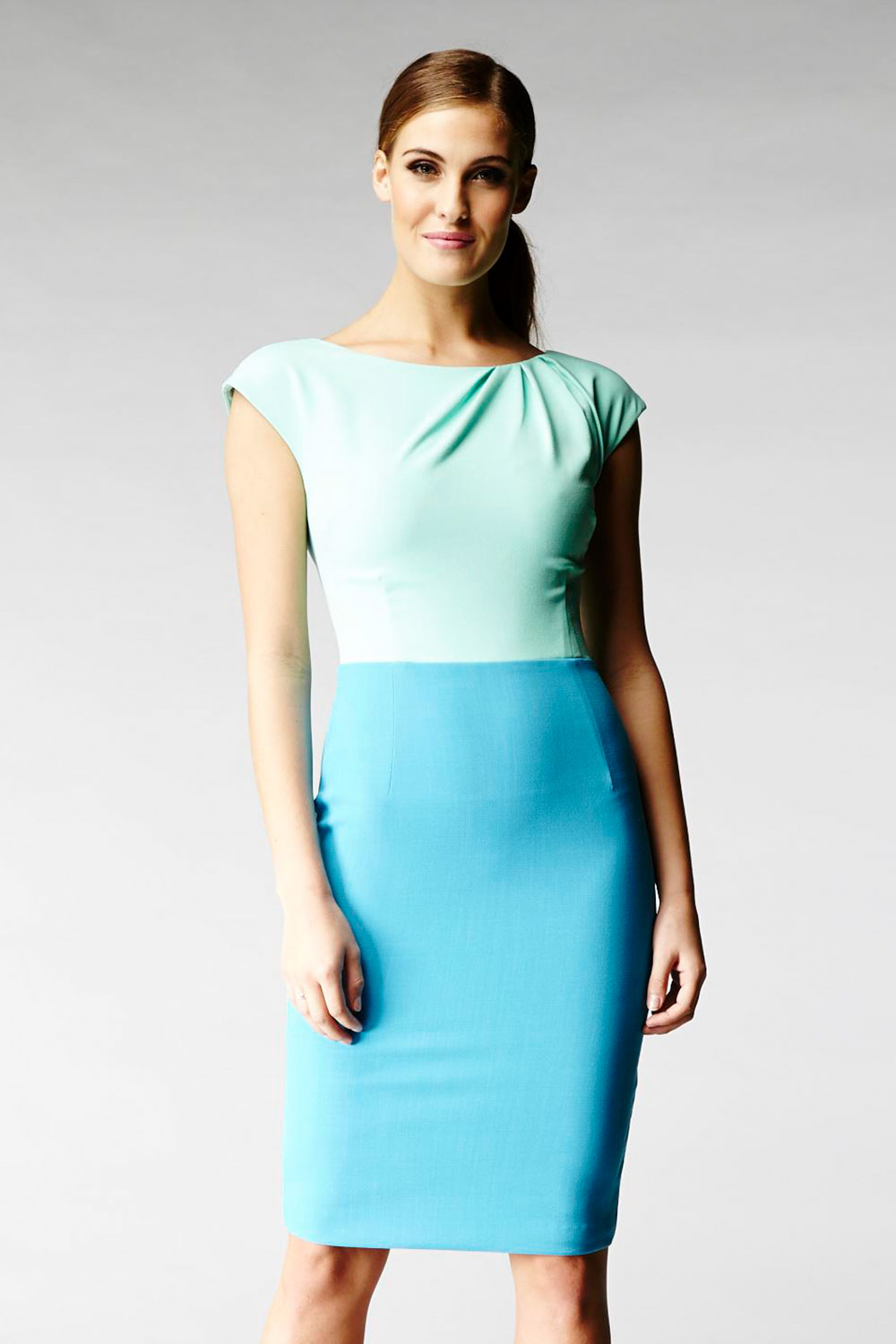 Hybrid Fashion 1098 Addison Contrast Pencil Dress