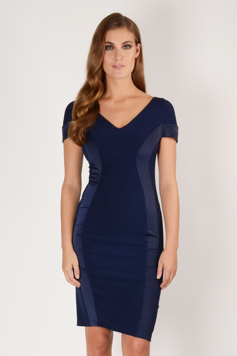 Hybrid Fashion 1222N Margot Satin Pencil Dress
