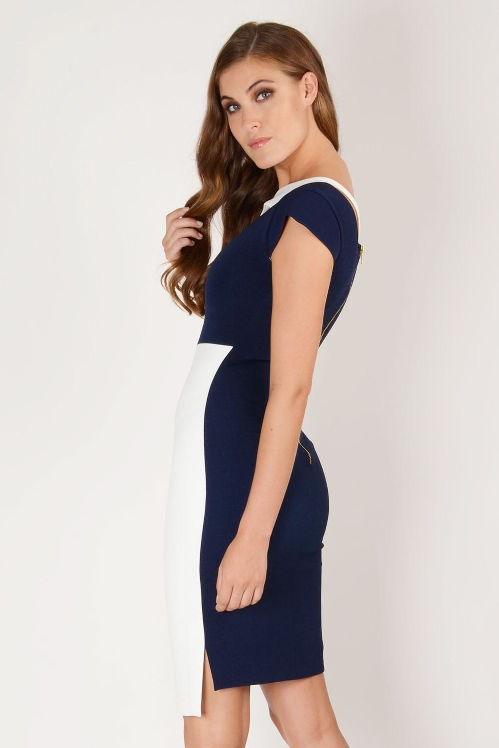 Hybrid Fashion 1243 Winona Asymmetric Pencil Dress