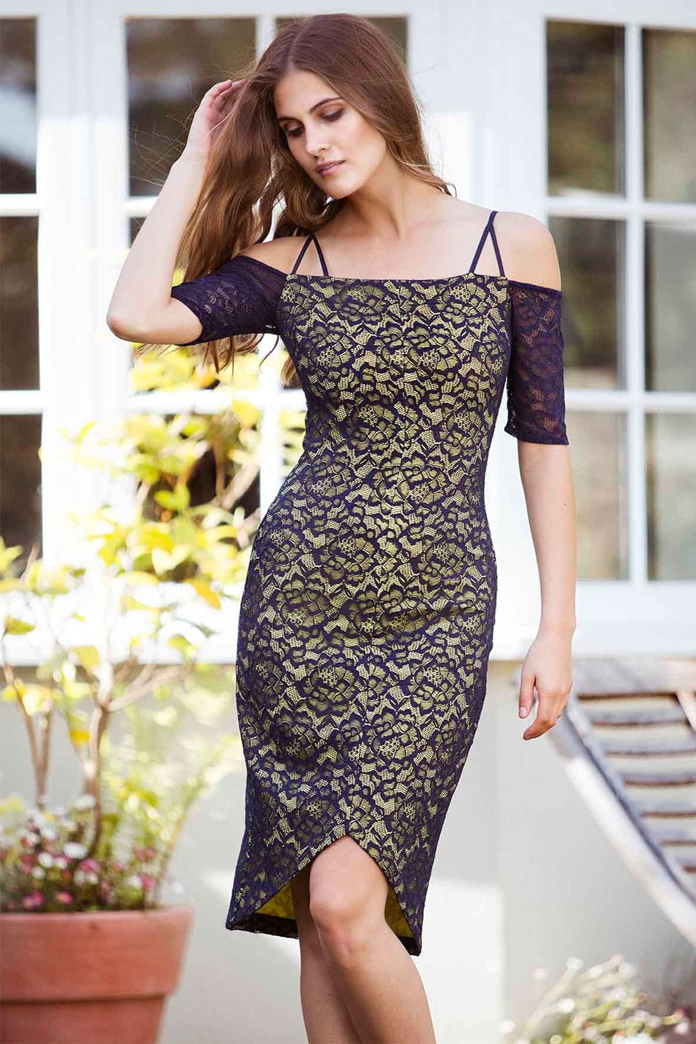 Hybrid Fashion 1254 Isla Lace Pencil Dress