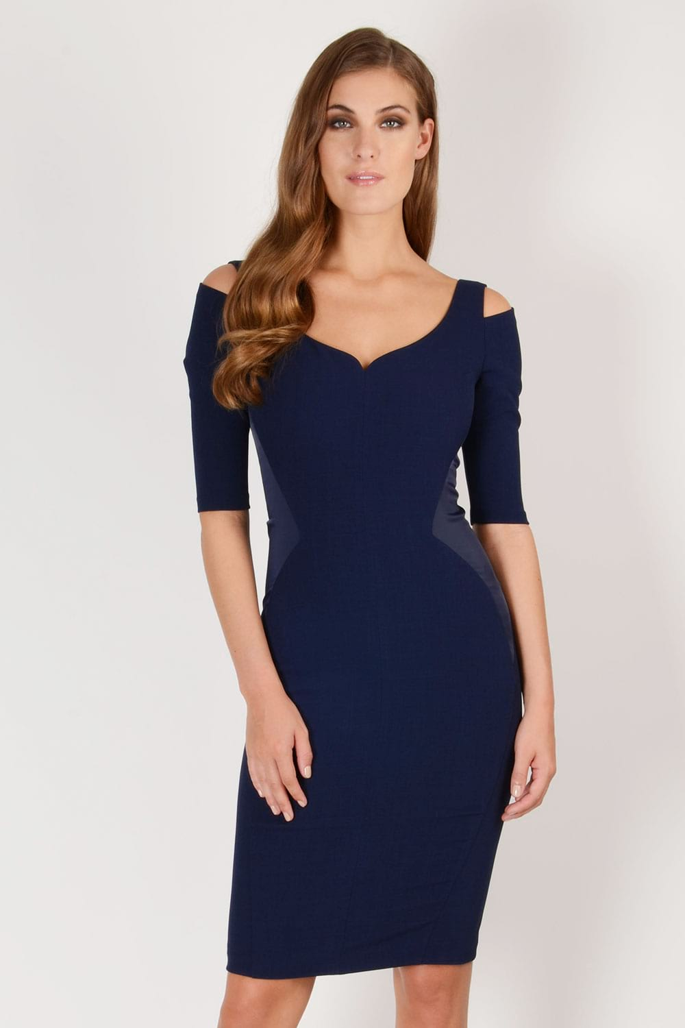 Hybrid Fashion Suki 1260 Cold Shoulder Pencil Dress
