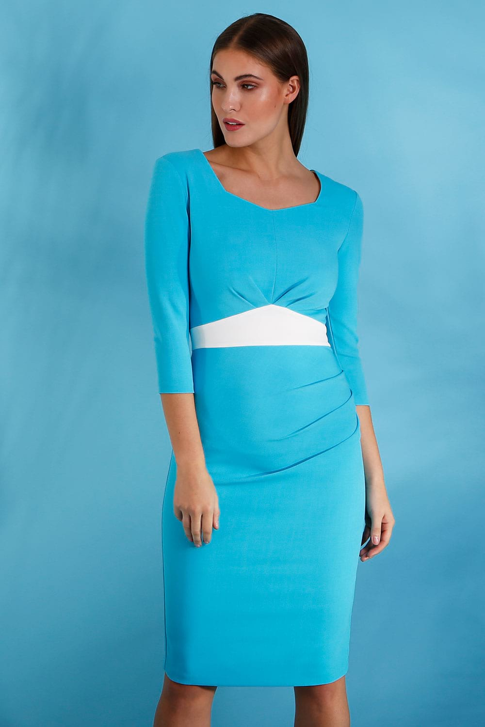 Hybrid Fashion 1283 Leona Crepe Pencil Dress