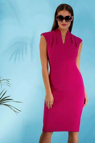 Hybrid Fashion Paula 1286 High Neck Pencil Dress