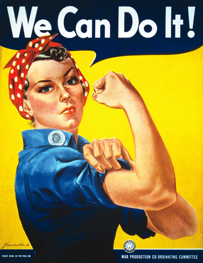 Rosie the Riveter poster, easy halloween costume idea for women