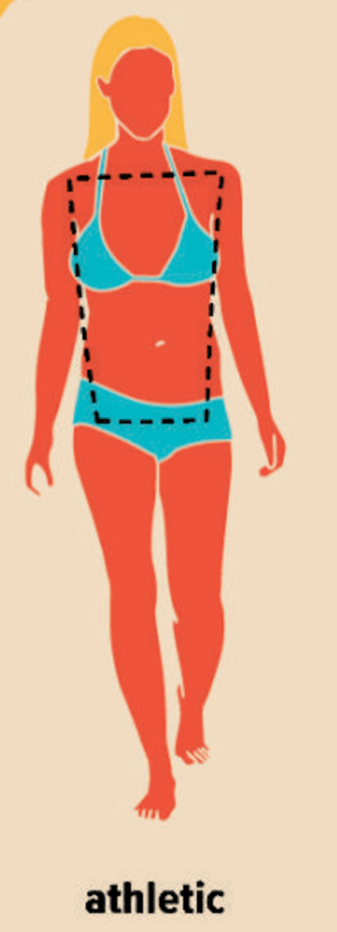 drawing of a woman with an athletic body type