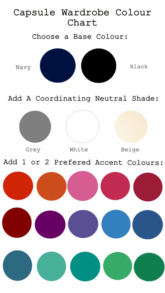 colour chart for a capsule wardrobe